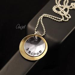 naszyjnik,srebrny,imię,angel - Naszyjniki - Biżuteria