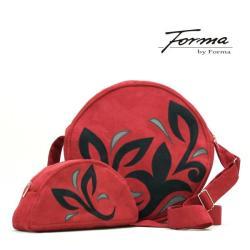 torebka,koło,na ramię,z zamszu ekologicznego - Komplety - Torebki