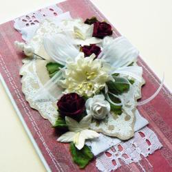 ślub,życzenia,kwiaty,para młoda,stroik - Kartki okolicznościowe - Akcesoria
