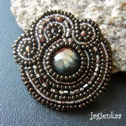 haft koralikowy,elegancki,unikalny - Broszki - Biżuteria