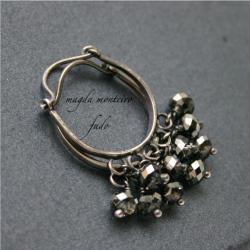 srebro,kolczyki,czarne,kryształ,Swarovski - Kolczyki - Biżuteria