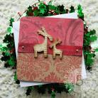 Kartki okolicznościowe renifery,święta,eight