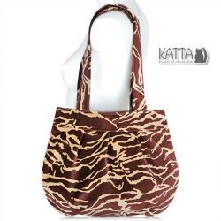 torba z aksamitu,dziki wzór,elegancja,jesienna - Na ramię - Torebki
