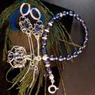 Komplety srebro,perły,kobiece,wire-wrapping,eleganckie,