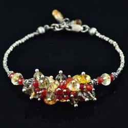 kompleti oksydowany,z karneolem - Komplety - Biżuteria