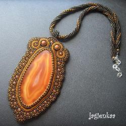 haft koralikowy,elegancki,unikalny - Naszyjniki - Biżuteria