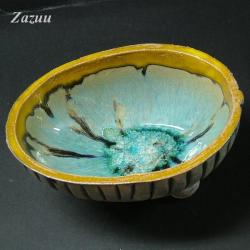 miseczka na słodycze,piękna,zółta,turkusowa - Ceramika i szkło - Wyposażenie wnętrz