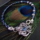 Bransoletki srebro,perły,kobiece,romantyczne,eleganckie,kyanit