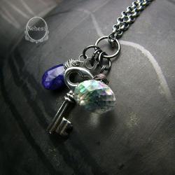 komplet z szafirem,kolczyki,nehesi - Komplety - Biżuteria