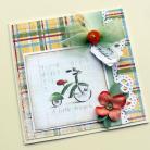 Kartki okolicznościowe chłopie,narodziny,rowerek,retro,powitanie