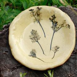 patera,rękodzieło,misa,ceramika,czarny bez - Ceramika i szkło - Wyposażenie wnętrz