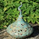 Ceramika i szkło szkatułka,na skarby,unikat,misterna,ażur