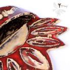 Ceramika i szkło pojemnik na sól,ceramika,na ścianę,czerwień