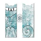 Zakładki do książek zakładka,kot turkusowy,śnieg,na prezent
