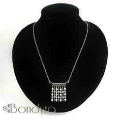 naszyjnik,srebrny,elegancki,swarovski - Naszyjniki - Biżuteria