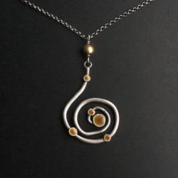 fiann,spirala,emalia jubilerska,wisior - Wisiory - Biżuteria