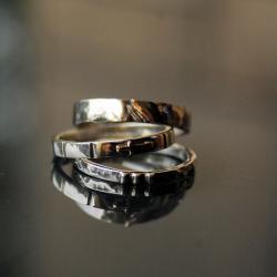 srebrne obrączki,różaniec na palec - Inne - Biżuteria