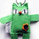 Inne kot,zieleń,filc,zawieszka