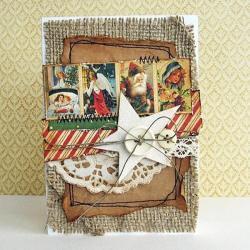 kartka,Boże Narodzenie,święta,życzenia,vintage - Kartki okolicznościowe - Akcesoria
