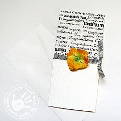 kartka,gratulacje,kwiat,czarno-biała - Kartki okolicznościowe - Akcesoria