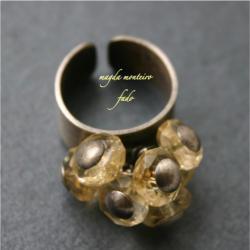 srebro,żółty,cytryn,pierścionek,oksydowany - Pierścionki - Biżuteria