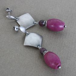 kobiece,zmysłowe,kwadraty,wiszące,sztyfty - Kolczyki - Biżuteria