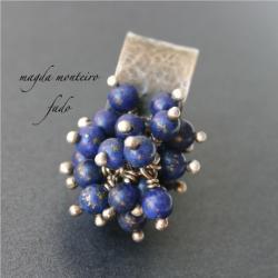 pierścionek,srebro,oksydowany,lapis - Pierścionki - Biżuteria
