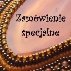 haft koralikowy,elegancki,unikalny - Komplety - Biżuteria