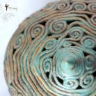 Ceramika i szkło szkatułka,na różności,ażur,turkus,esy-floresy
