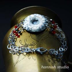 niezwykła,ekskluzywna bransoleta,srebro - Bransoletki - Biżuteria