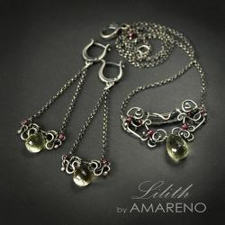 elegancki komplet z kwarcem lemonowym - Komplety - Biżuteria