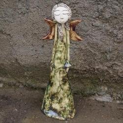 ceramika,anioł,figurka,anielica - Ceramika i szkło - Wyposażenie wnętrz