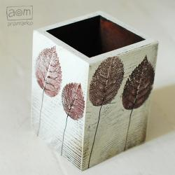 pojemnik,pojemniczek,pudełko,liście,anamarko - Pudełka - Wyposażenie wnętrz