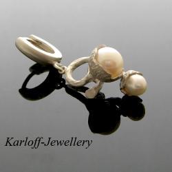 perły,srebro,delikatne - Kolczyki - Biżuteria