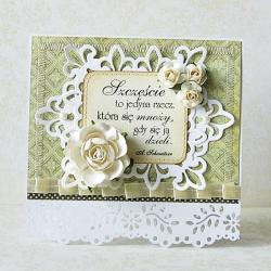 ślub,życzenia,pastele,kwiaty,kartka - Kartki okolicznościowe - Akcesoria