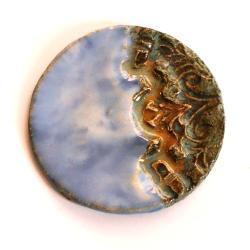 broszka ceramiczna,biżuteria artystyczna - Broszki - Biżuteria