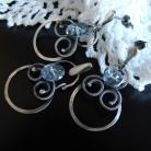Komplety topaz,srebro,delikatna biżuteria,wire-wrapping
