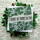Kartki okolicznościowe święta,śniezynki,eight