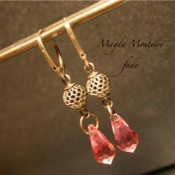 kolczyki,kryształ,różowe,Swarovski,light rose - Kolczyki - Biżuteria