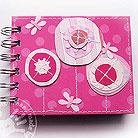 Notesy notes,róż,kwiatek,motylek