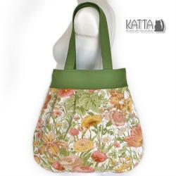 torba w kwiaty,na lato,rośliny,kwiatowa - Na ramię - Torebki