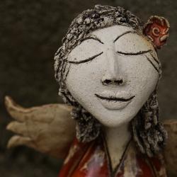 figurka,anioł, - Ceramika i szkło - Wyposażenie wnętrz