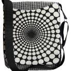 Na ramię torba listonoszka,op art,czarno-biała,black