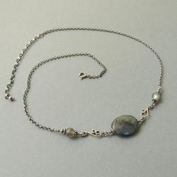 delikatny,romantyczny,kobiecy,owalny,krótki - Naszyjniki - Biżuteria