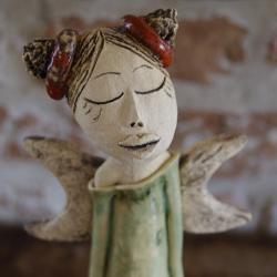 anioł,ceramika - Ceramika i szkło - Wyposażenie wnętrz