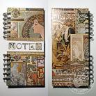 Notesy notes,mucha,art nouveau,koronka