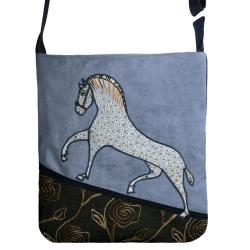 d1910e34c0878 torba,a4,niebieski,koń,zamsz,granatowy - Na ramię - Torebki w ArsNeo