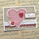 Kartki okolicznościowe kartka,serce,kratka,czerwony,walentynki