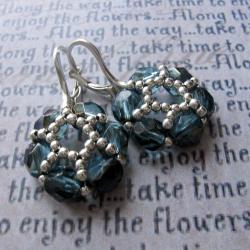 Swarovski,kwiaty,plecione,Extrano,komplet - Komplety - Biżuteria