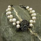 Bransoletki bransoleta,srebro,perły
